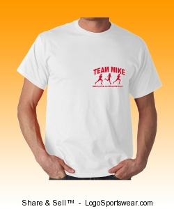 Team Mike - Running Red - T-Shirt Design Zoom